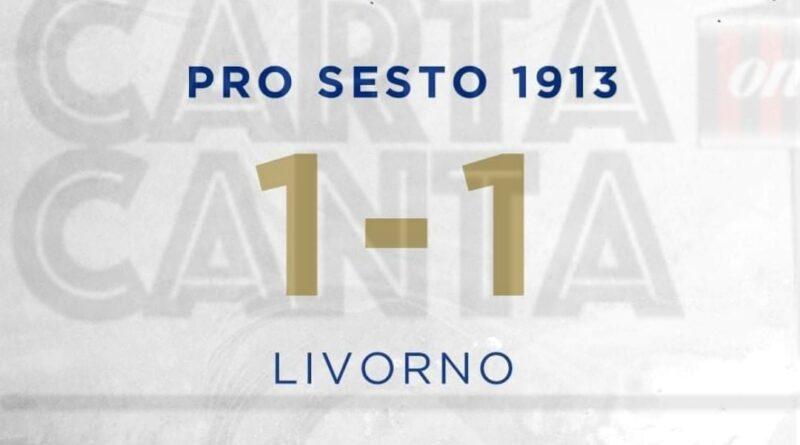 LE PAGELLE biancoazzurre di Pro Sesto – Livorno 1-1. 19°GIORNATA SERIE C – GIRONE A.